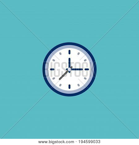 Flat Icon Time Element. Vector Illustration Of Flat Icon Clock Isolated On Clean Background. Can Be Used As Time, Clock And Watch Symbols.