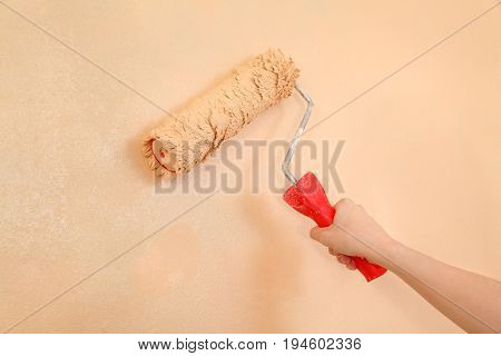 Worker Hand With Paintroller