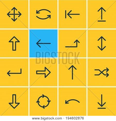 Vector Illustration Of 16 Sign Icons. Editable Pack Of Raise, Loading, Submit And Other Elements.