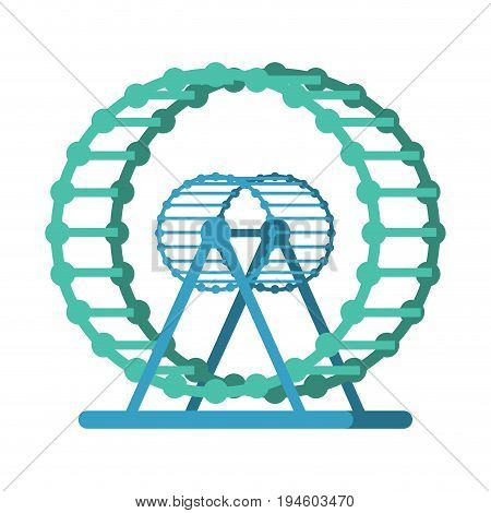 Wheel For Hamster Empty. Accessory For Home Pet. Toy For Domestic Rat