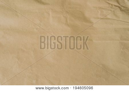 Kraft Brown Paper And Crumpled Background Texture With Space.