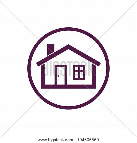 Home symbol estate agency emblem can be used in advertising and web design. Property vector simple icon isolated on white.