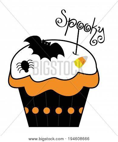Happy Halloween Holiday Spooky Cupcake Treat Goodie
