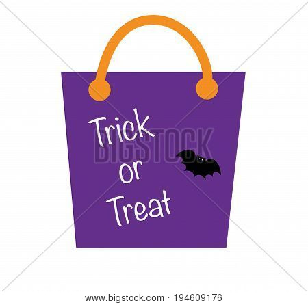 Happy Halloween Holiday Trick or Treat Bag