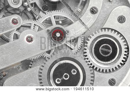 detail of a mechanical device with some gears