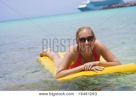 Woman on a Caribbean Cruise Vacation
