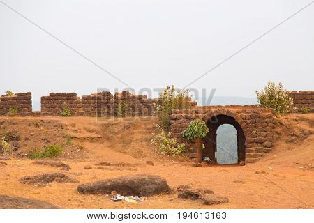 Old portuguese conquer ruins of Goa, India