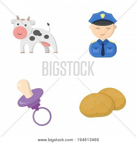 business, trade, ecology and other  icon in cartoon style.vegetables, food, starch, icons in set collection.
