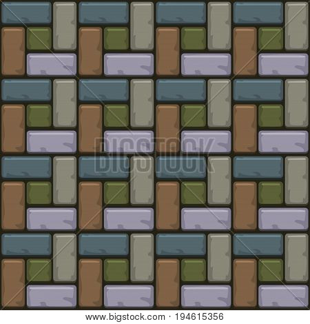 Colored Concrete paving slabs surface. Vector Seamless texture