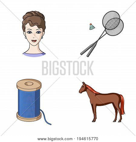 betting, cosmetology, hairdresser and other  icon in cartoon style. animal, horse racing, business icons in set collection.