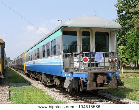 Bogie Special Train At Chiangmai Railway Station.