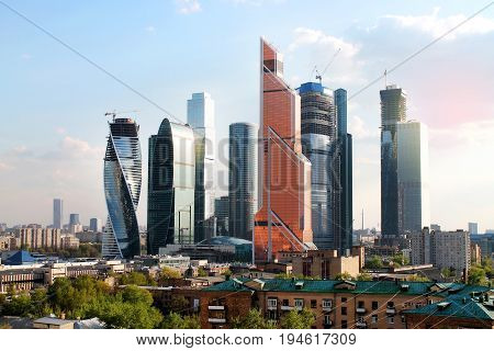 View on Moscow International Business Center. Russian Federation.