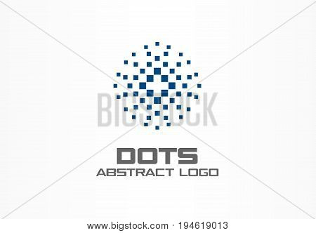 Abstract logo for business company. Corporate identity design element. Digital technology, Globe, sphere, circle logotype idea. Growth, development, healthcare concept. Colorful Vector icon
