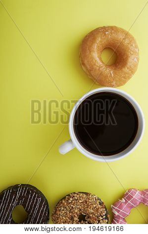 Donuts With Caffee Cup