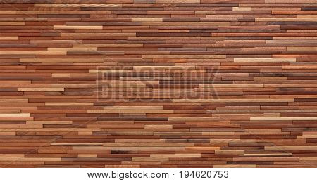 Brown Textured Wooden Wall with multi-layered and multi-colored segments of Wood