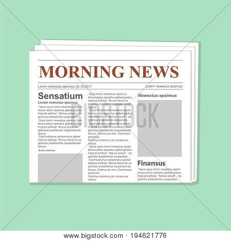 Newspaper journal template. Daily paper flat illustration