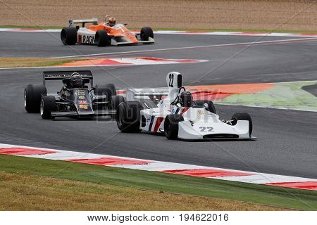 Magny-cours, France, June 30, 2017 : Race Of Old F1. The First French Historic Grand Prix Takes Plac