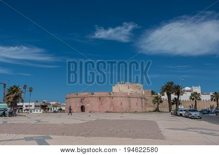 Essaouira, Morocco - May 6, 2017 : Borj Bab Marrakech bastion in Essaouira - Morocco