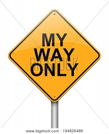 3d Illustration depicting a sign with a