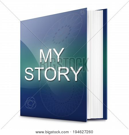 3d Illustration depicting a text book with a