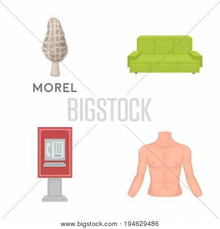 trade, business, medicine and other  icon in cartoon style., male, hands, figure, icons in set collection.