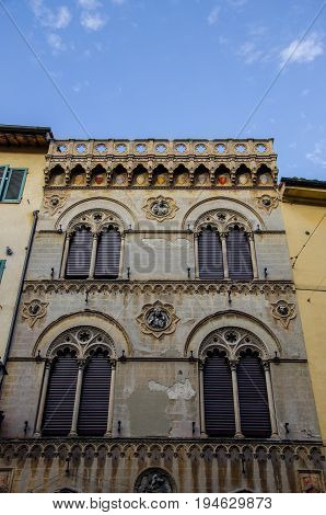 A particular of Ancient buildings of Pisa, Tuscany