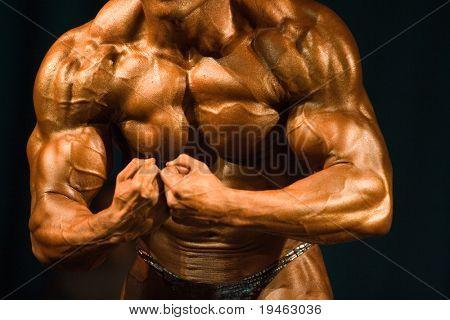 Bodybuilder meest gespierd Pose