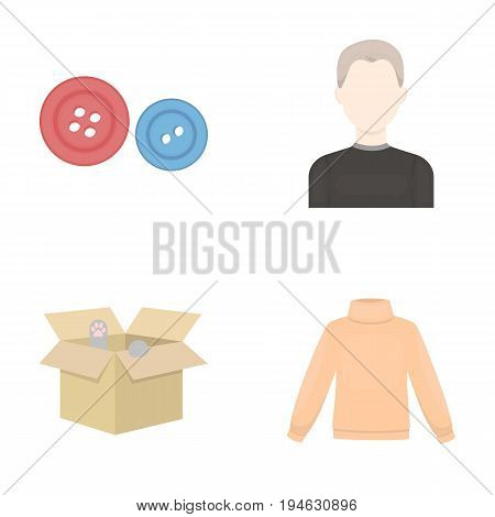 business, textiles, Salam and other  icon in cartoon style., model, fashion, trade, icons in set collection.