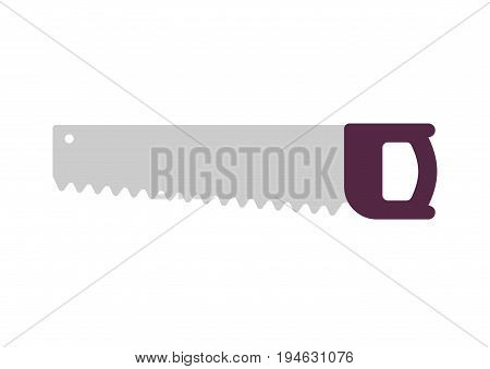 Saw Isolated. Bench Tool On White Background
