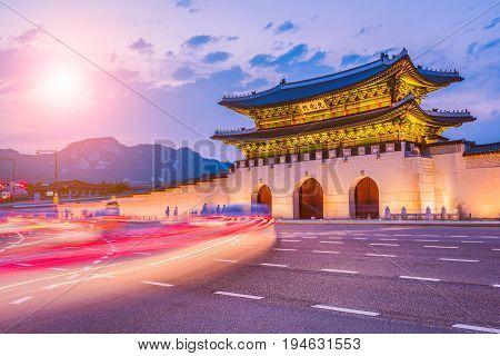 Gyeongbok palace in Seoul City South Korea.