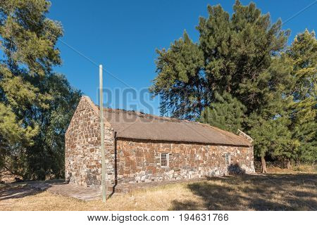 CAMPBELL SOUTH AFRICA - JUNE 11 2017: The historic mission church in Campbell a small village in the Northern Cape Province