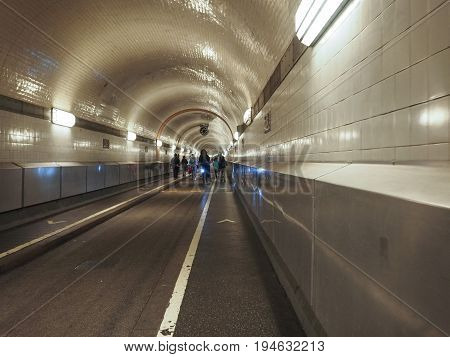 St Pauli Elbtunnel (st Pauli Elbe Tunnel) In Hamburg