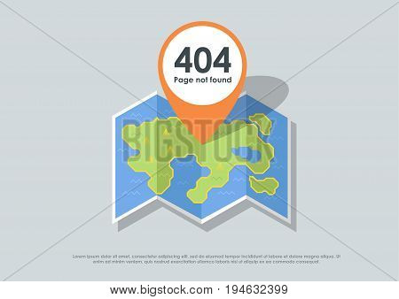 Design 404 error. Template reports that the page is not found. vector illustration for web and print.