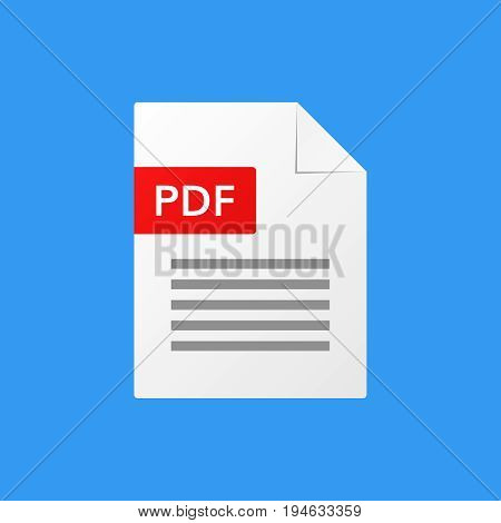 pdf document vector illustration  pdf  file format  icon