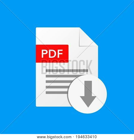 pdf document vector illustration  download pdf  file format  icon