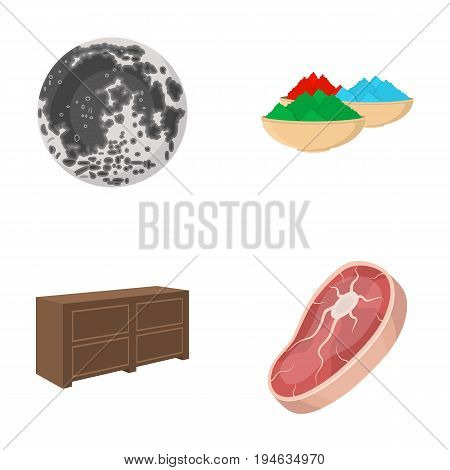 food, business, ecology and other  icon in cartoon style.piece, beef, pork icons in set collection.