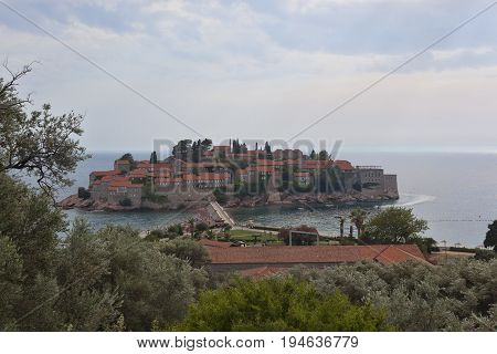 Sveti Stefan Island On The Budva Riviera