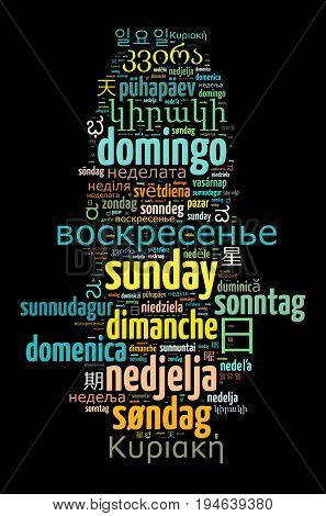 Word Sunday In Different Languages