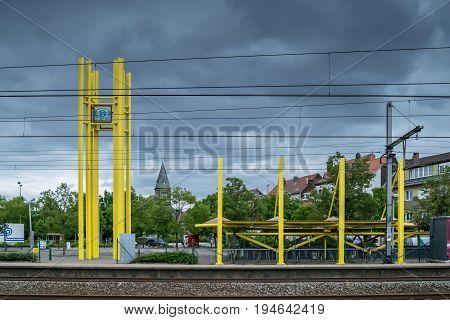 Railway Train Station In Ruisbroek, Belgium