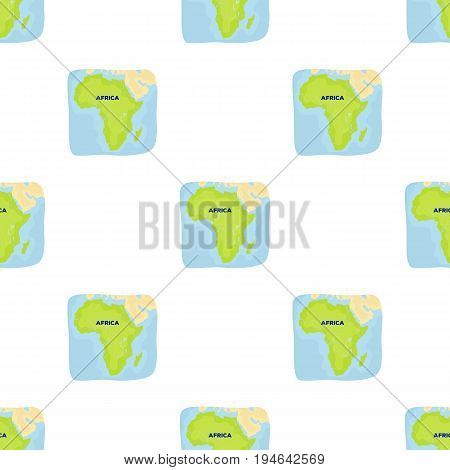 Territory of Africa.African safari single icon in cartoon style vector symbol stock illustration .