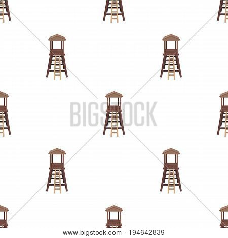 Observation tower for hunters.African safari single icon in cartoon style vector symbol stock illustration .