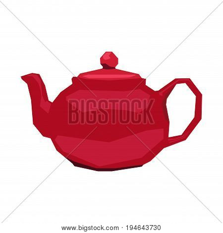 Isolated geometric teapot on a white background, Vector illustration