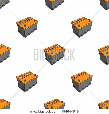 For automobile battery.Car single icon in cartoon style vector symbol stock illustration .