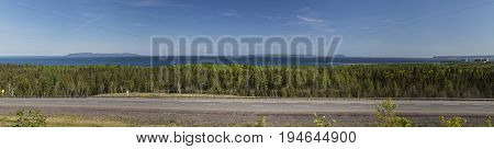 Thunder Bay Lake Superior Scenic Canadian Landscape