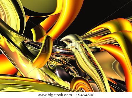 Abstract Red&Gold Backround 05