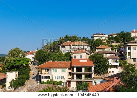 View of the antic city balchik in Bulgaria sunny summer day.