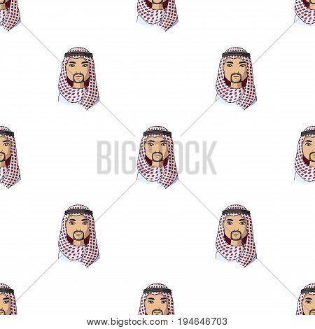 Arab.Human race single icon in cartoon style vector symbol stock illustration .