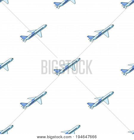 Postal aircraft.Mail and postman pattern icon in cartoon style vector symbol stock illustration .