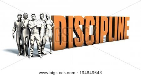 Business People Team Focusing on Improving Discipline as a Concept 3D Render
