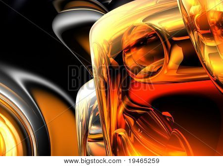 orange&silver background (abstract) 04
